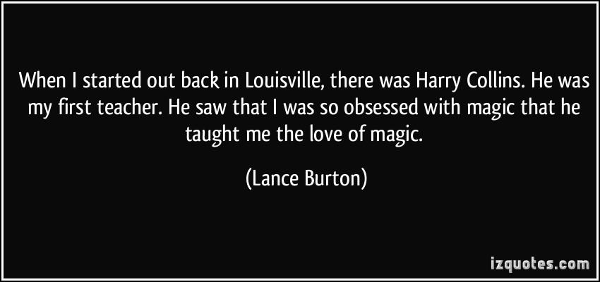 Lance Burton's quote #3