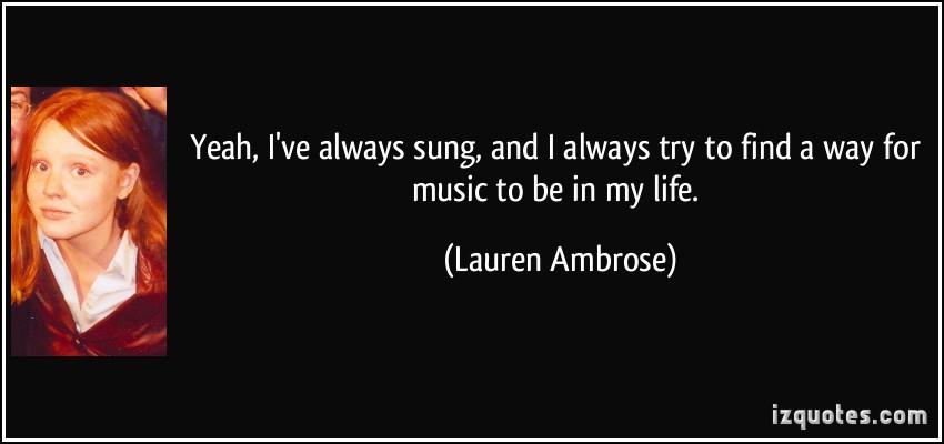 Lauren Ambrose's quote #4