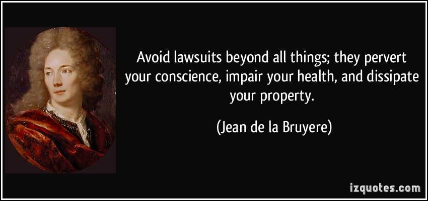 Lawsuits quote #1