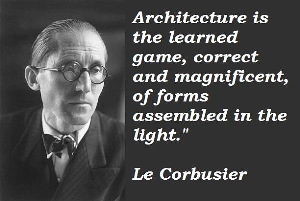 Le Corbusier's quote