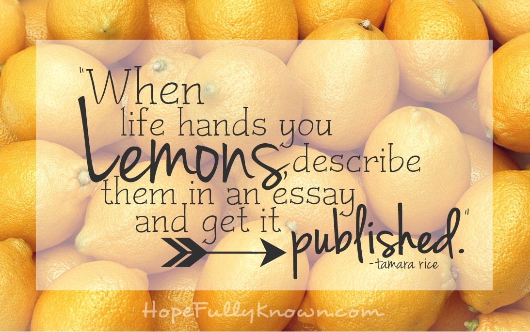 Lemons quote #1
