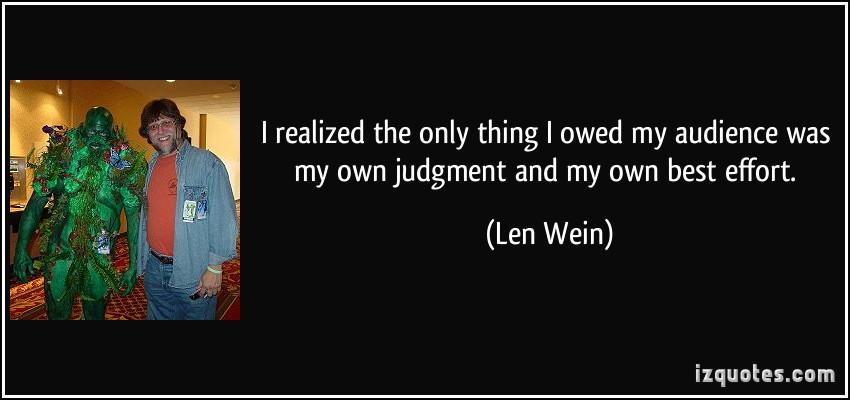 Len Wein's quote #2