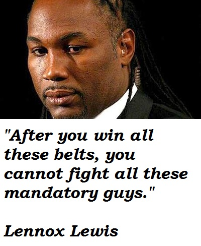 Lennox Lewis's quote #7