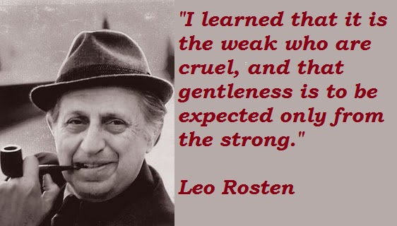 Leo Rosten's quote #1