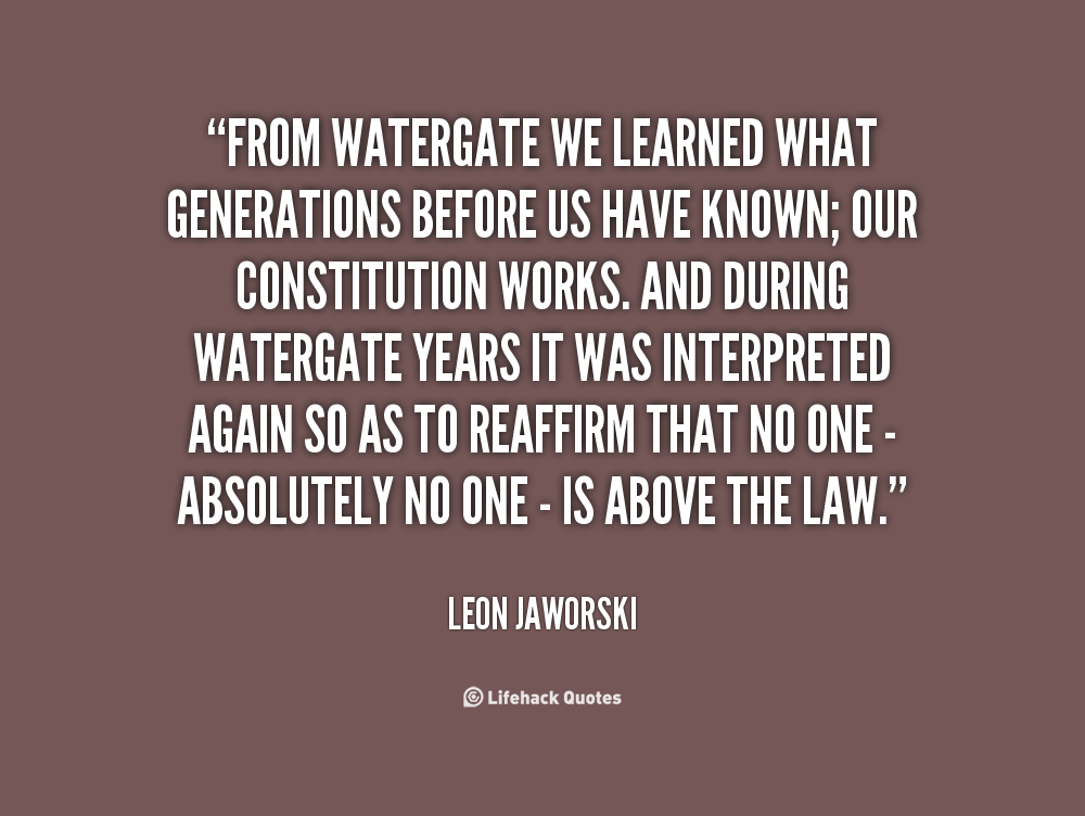 Leon Jaworski's quote #1