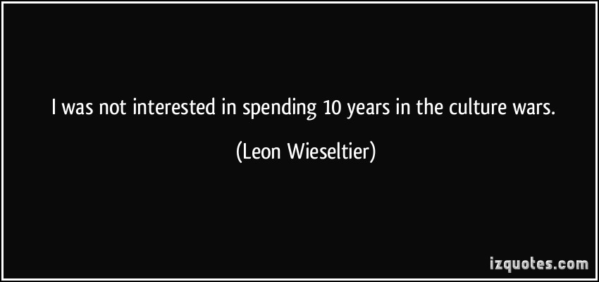 Leon Wieseltier's quote