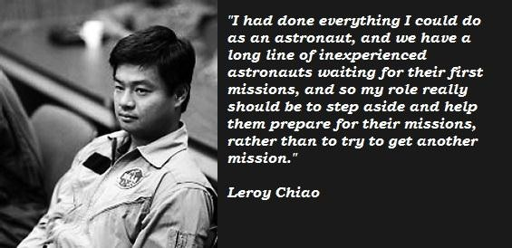 Leroy Chiao's quote #3