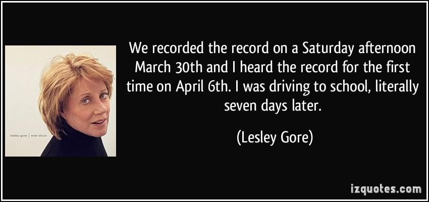 Lesley Gore's quote #1