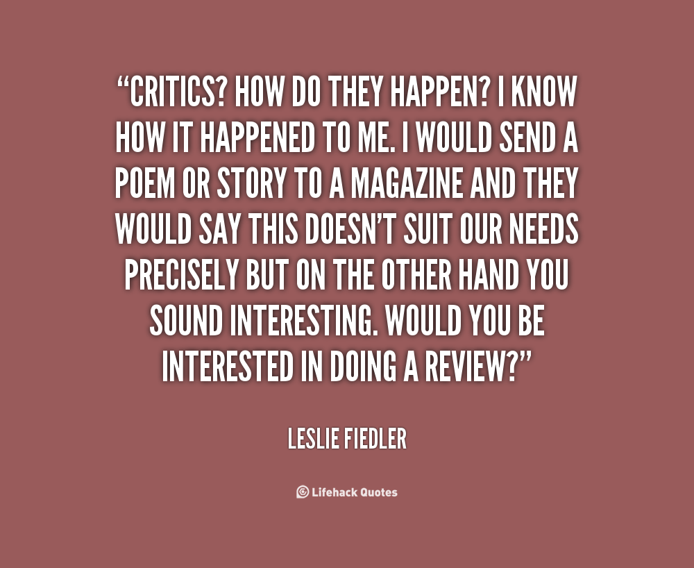 Leslie Fiedler's quote #2