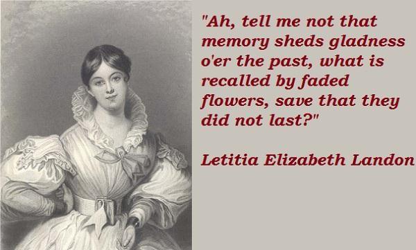 Letitia Elizabeth Landon's quote #7
