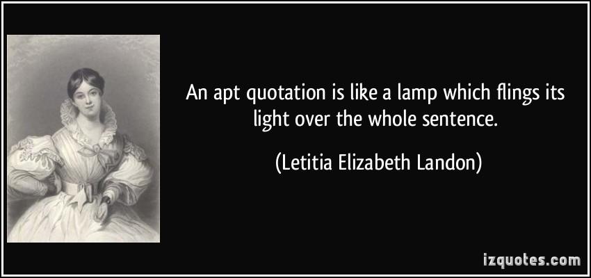 Letitia Elizabeth Landon's quote #8