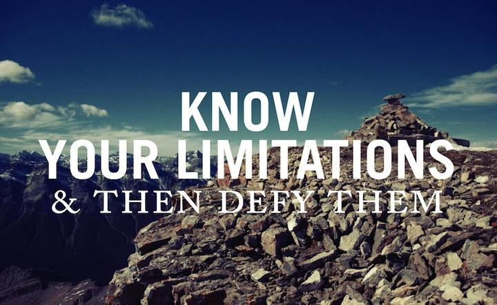 Limitation quote #3
