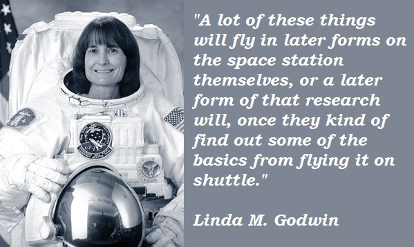 Linda M. Godwin's quote #1