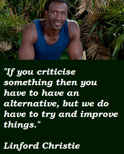 Linford Christie's quote