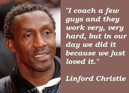Linford Christie's quote #2