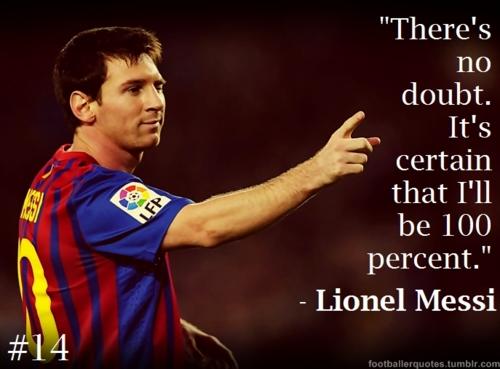 Lionel Messi's quote