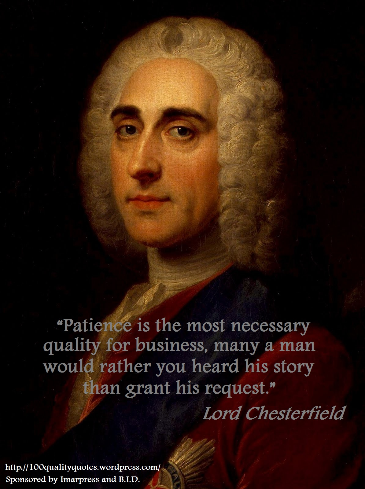 Lord Chesterfield's quote #1