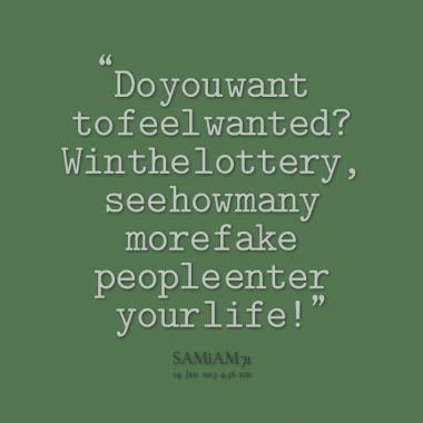 Lottery quote #3
