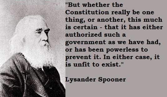 Lysander Spooner's quote #1