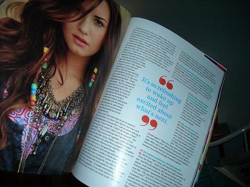 Magazine quote #1