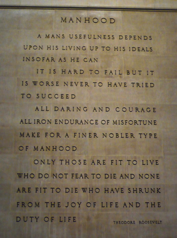 Manhood quote #1