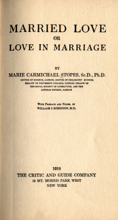 Marie Carmichael Stopes's quote #1
