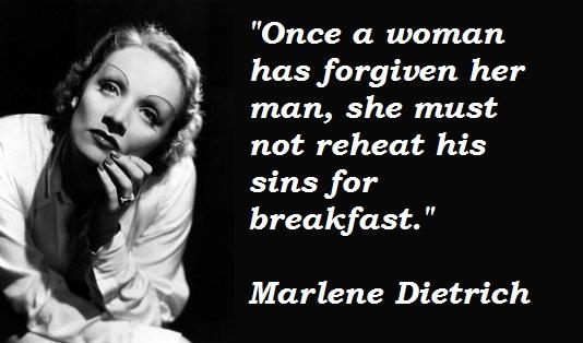 Marlene Dietrich's quote #1