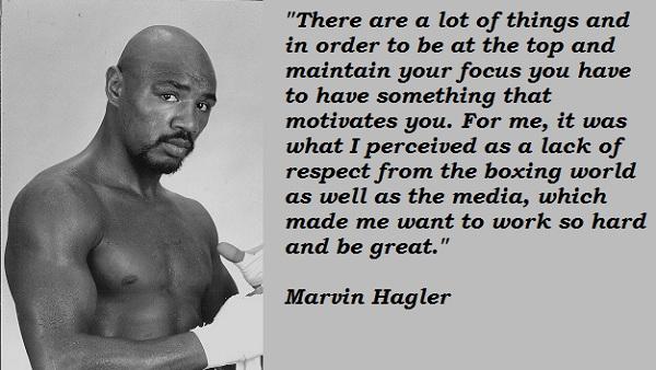 Marvin Hagler's quote #4
