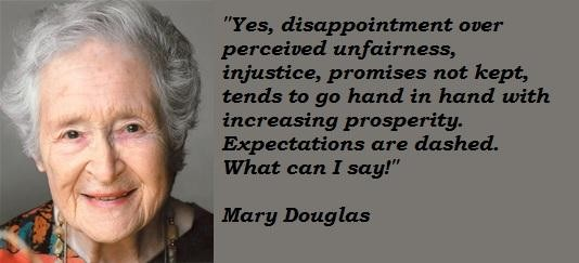 Mary Douglas's quote