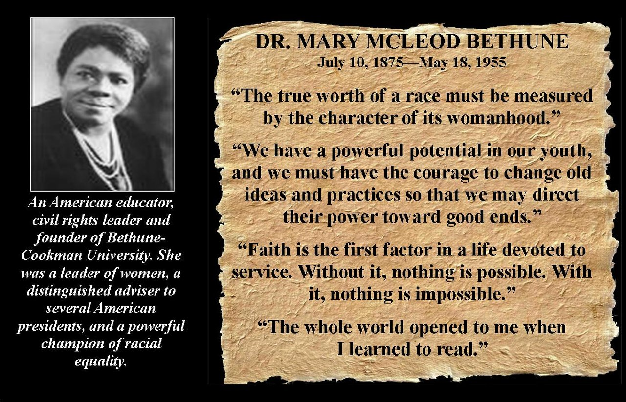 Mary McLeod Bethune's quote #1