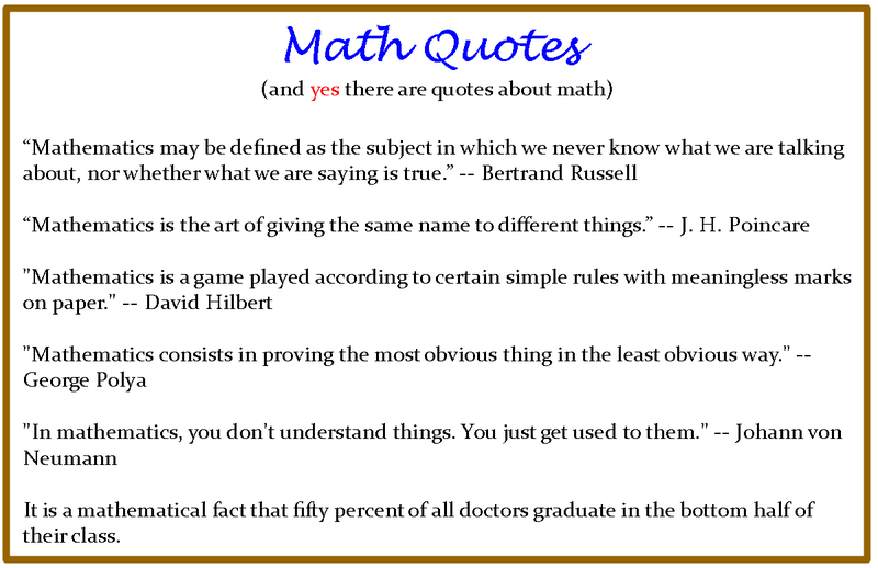 Maths quote #2