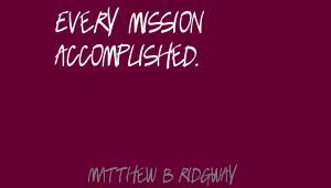 Matthew B. Ridgway's quote #1