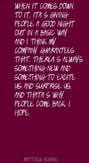 Matthew Bourne's quote #3