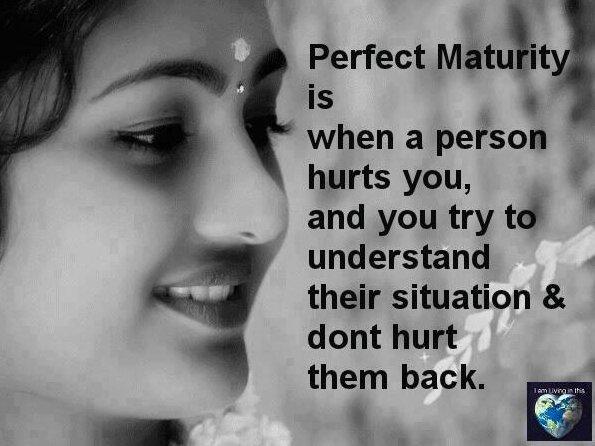 Maturity quote #5