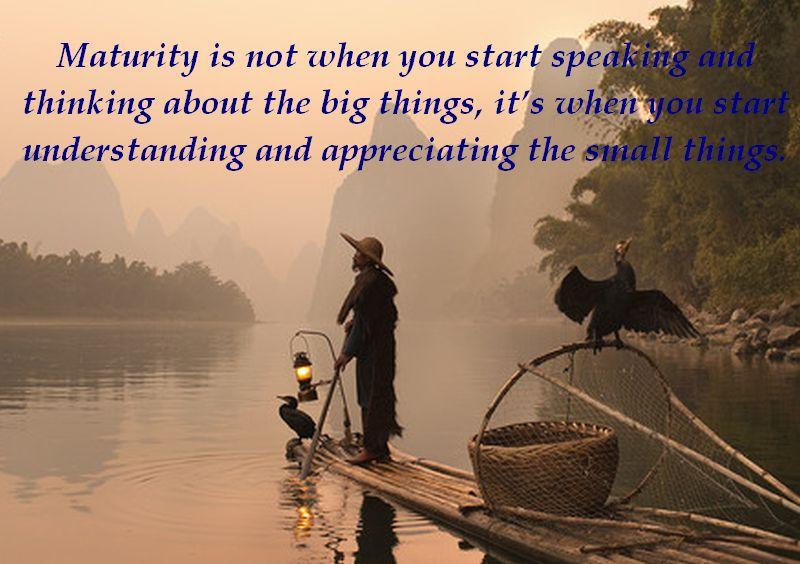 Maturity quote #1