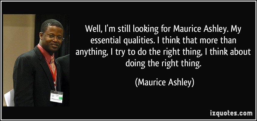 Maurice Ashley's quote #2