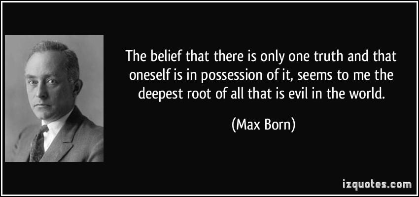 Max Born's quote