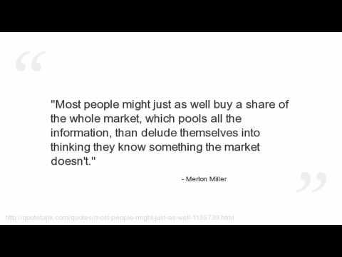 Merton Miller's quote #7