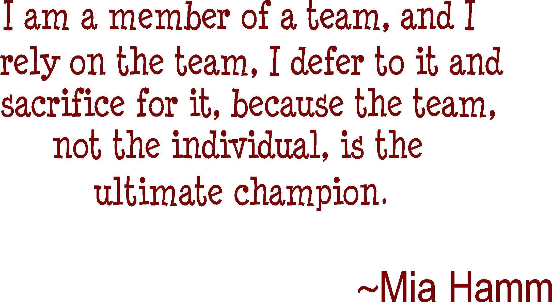 Mia Hamm's quote #5