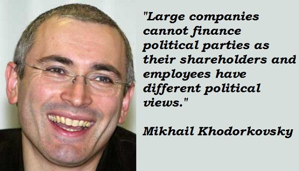 Mikhail Khodorkovsky's quote #1