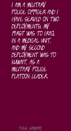 Military Police quote #2