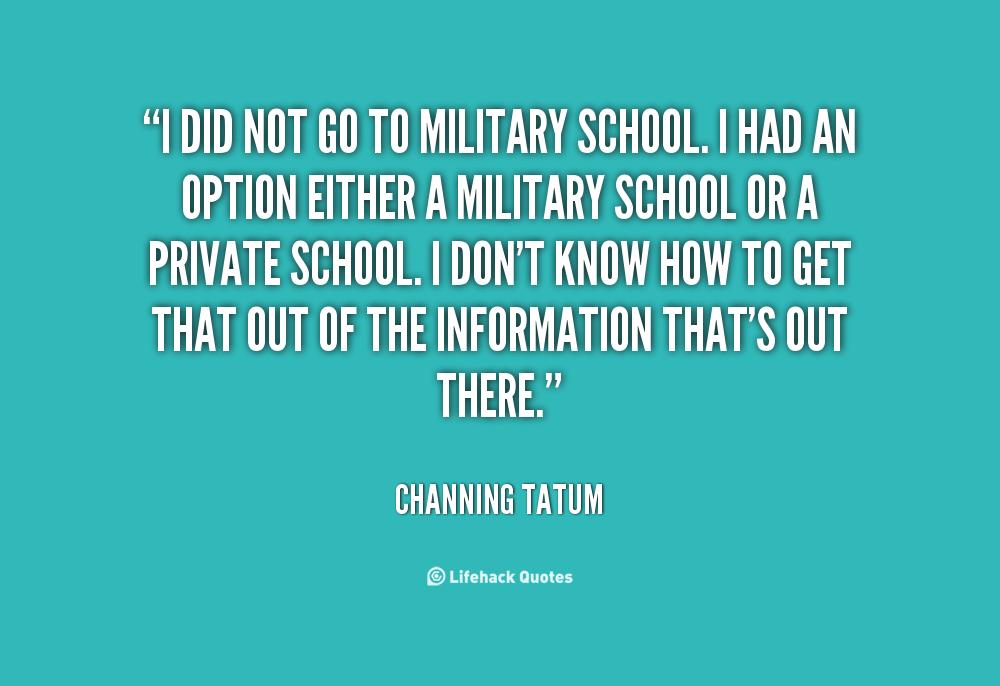 Military School quote #1