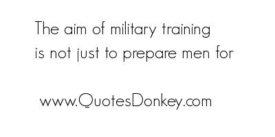 Military Training quote #1