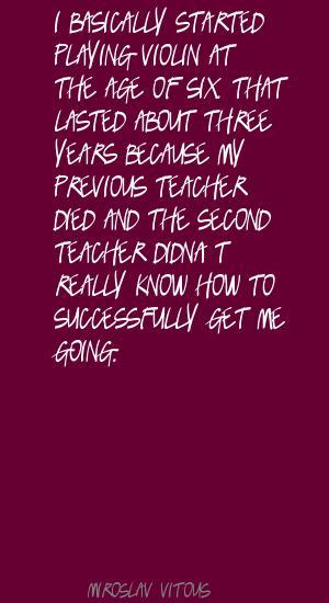 Miroslav Vitous's quote #4