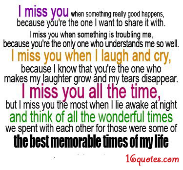 Miss You quote #2