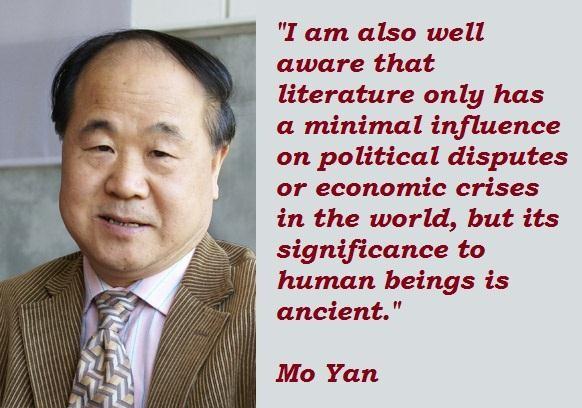 Mo Yan's quote #3