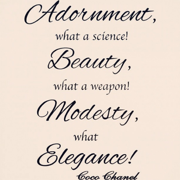 Modesty quote #4