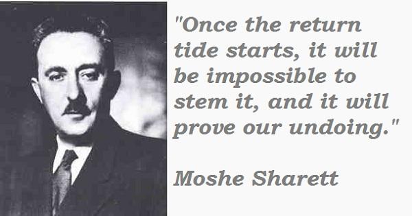 Moshe Sharett's quote #1