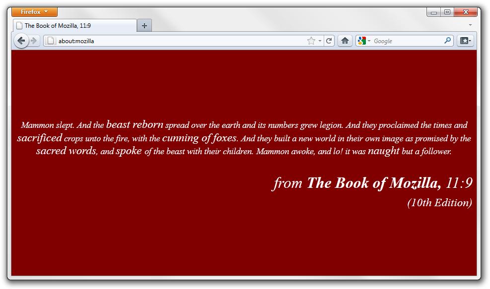 Mozilla quote #1