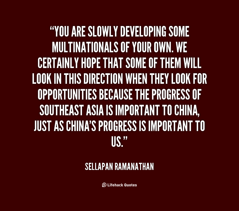 Multinationals quote #1